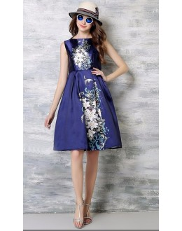 Party Wear Readymade Blue Western Wear Dress - 101039
