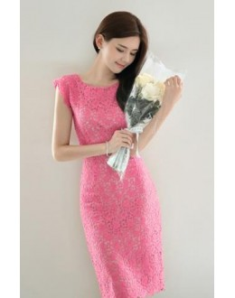 Party Wear Pink Rassel Net Western Wear Dress - 102072