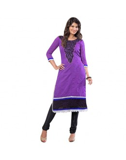 Diwali Special Designer Blue & Black Embroidered Chanderi Straight Fit Party Wear Suit - 6026 ( SOS-60 )