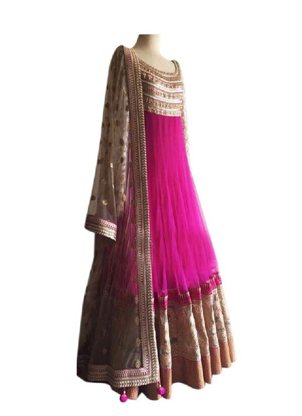 Bollywood Replica - Party Wear Pink Designer Anarkali Suit - 3352501