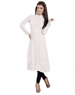 Party Wear Fancy White Long Kurti - 1890243