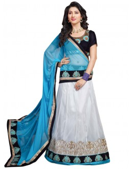 Party Wear Light Blue  Lehnega Choli - 3352511