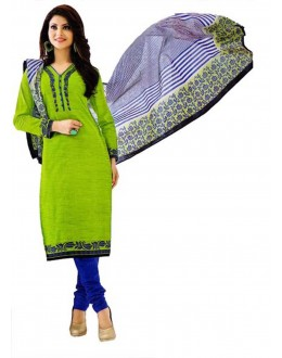 Cambric Cotton Light Green Churidar Suit Dress Material - 5490515