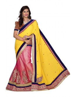 Designer Fancy Party Wear Multicolor Jacquard Saree-NB7911A ( ST-266 )