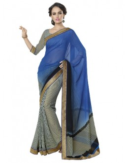 Designer Fancy Printed Awesome Multicolor Georgette Saree-KR1166 ( ST-266 )