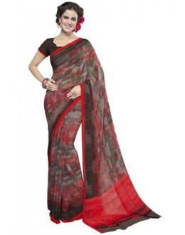 Designer Fancy Printed Lovely Multicolor Georgette Saree-KR1158 ( ST-266 )
