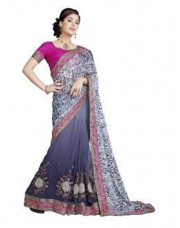 Heavy Designer Dashing Grey Color Party Wear Saree-CB9516 ( ST-266 )