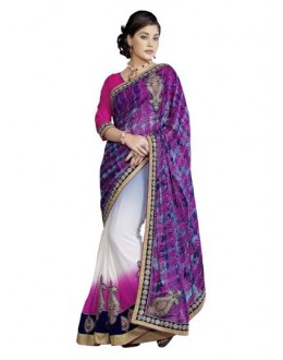 Heavy Designer Embroidered Multicolor Party Wear Saree-CB9520 ( ST-266 )