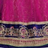 Wedding Wear Pink & Blue Net Lehenga Choli - PNS9805A