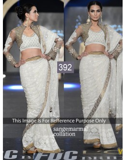 Bollywood Replica - Designer Georgette Off White Saree - 392 (OM-VOL-12)