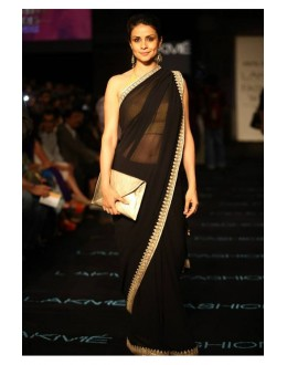 Bollywood Replica - Gul Panag Designer Georgette Black Saree - 381 (OM-VOL-12)
