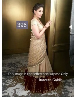 Bollywood Replica - Kareena Kapoor In Beautiful Golden Beige Maroon Net Lehenga - 396 (OM-VOL-12)