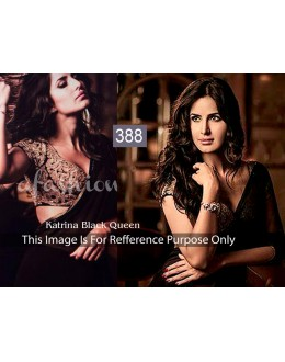 Bollywood Replica - Katrina Kaif in Designer Georgette Plain Black Saree - 388 (OM-VOL-12)