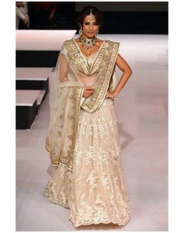 Bollywood Replica - Malaika Arora in a Gorgeous Cream and Gold Bridal Lengha - 394 (OM-VOL-12)