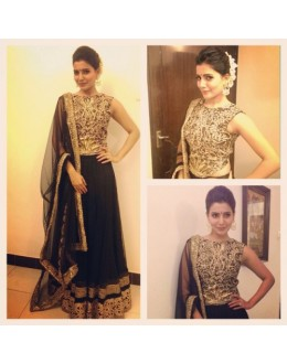 Bollywood Replica - Samantha Prabhu In Beautiful in Black Net Lehenga - 395 (OM-VOL-12)