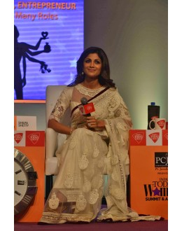 Bollywood Replica - Shilpa Shetty in Designer Net Cream Color Saree - 380 (OM-VOL-12)
