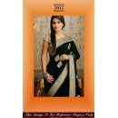Bollywood Replica - Black and Beige Color Georgette Saree - 7017 (SAM-205)