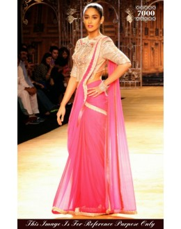Bollywood Replica - Ileana D'cruz Pink Color Georgette Saree - 7000 (SAM-205)