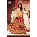 Bollywood Replica - Jacqueline Fernandez Maroon and Cream Lehenga Choli - 7004 (SAM-205)