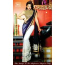 Bollywood Replica - Jacqueline Fernandez Off-white and Blue Color Georgette Saree - 7005 (SAM-205)