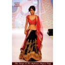 Bollywood Replica - Nia Shrama in Black and Red Lehenga Choli - 7014