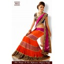 Bollywood Replica - Orange and Pink Lehenga Choli - 7013 (SAM-205)