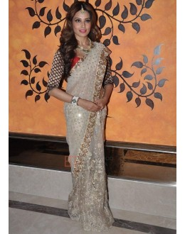 Bollywood Replica - Bipasa Basu Cream Color Net Saree - 297 (SAM-182)