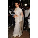 Bollywood Replica - Deepika Padukone in White Collar Blouse with Transparent Saree - 294 (SAM-182)