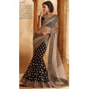 Bollywood Replica - Diwali Special Beautiful Georgette Net Black and Beige Colour Lehenga Saree - 7063 (SIA-7-Series)