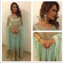 Bollywood Replica - Esha Gupta Designer Aquamarinel Color Lehenga Choli - 7074 (SAM-214-Vol-4)