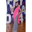 Bollywood Replica - Shilpa Shetty in Beautiful Pink and Black Designer Half and Half Saree - 295 (SAM-182)