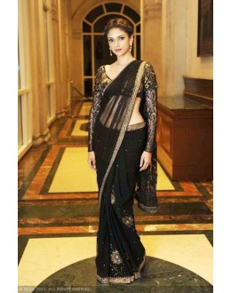 Bollywood Replica - Aditi Rao Hydari Beautiful Black Saree - FC-1