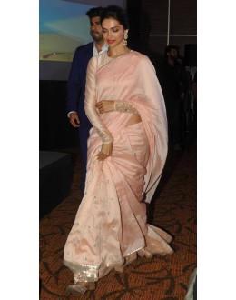 Bollywood Replica - Deepika Padukone in Georgette Net Baby Pink Saree - FC-47 (SIA-FC)
