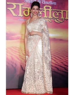 Bollywood Replica - Deepika Padukone Off White Designer Saree - 209 (CM-Vol-4)