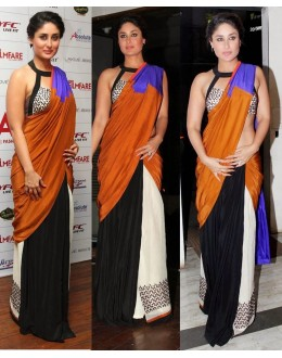 Bollywood Replica - Kareena Kapoor Designer Moss Velvet Multi Color  Saree - 215 (CM-Vol-4)