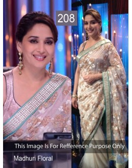 Bollywood Replica - Madhuri Dixit Off white colour Net Saree - 208 (CM-Vol-4)