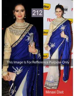 Bollywood Replica - Minaxi Dixit Designer Moss Velvet Net Saree - 212 (CM-Vol-4)