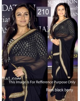 Bollywood Replica - Rani Mukherjee Moss Saree In Black Colour - 210 (CM-Vol-4)