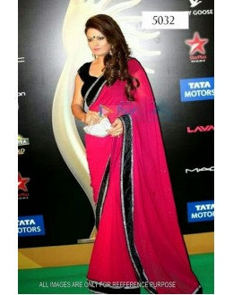 Bollywood Replica - Deepshikha Nagpal Designer Red Net Saree - 5032