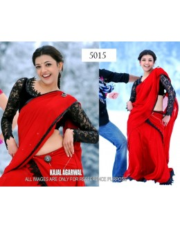 Bollywood Replica - Kajal Agarwal in Red Half Saree from the Telegu Movie - 5015 (IB-25)