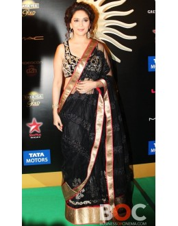 Bollywood Replica - Madhuri Dixit Black Net Saree at the IIFA Event - 5044 (IB-25)