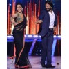 Bollywood Replica - Madhuri Dixit Black Saree With Heavy Work Blouse on the Set of Jhalak - 5039