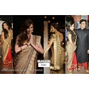 Bollywood Replica - Malaika Arora Faux Georgette Saree In Gold and Red Colour - 5048 (IB-25)