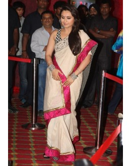 Bollywood Replica - RANI MUKHERJEE IN RED AND CREAM SAREE AT TALAASH MUSIC LAUNCH - 5017 (IB-25)