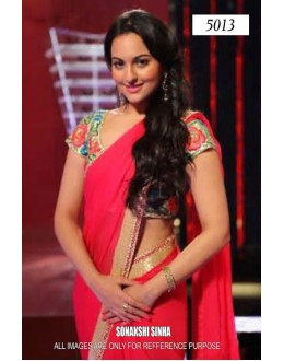 Bollywood Replica - Sonakshi Sinha In Hot Pink Designer Saree - 5013 (IB-25)