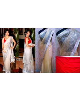 Bollywood Replica - Sophie Choudhary Designer Off White Net Saree - 5028 (IB-25)