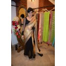 Bollywood Replica - Mandira Bedi Golden & Black Georgette Saree - 9107 (IB-372)