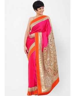 Bollywood Replica - Mandira Bedi Pink & Golden Saree - 5213 (IB-398)