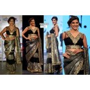 Bollywood Replica - Parizaad Kolah Black Saree with Heavy Embroidered Blouse - 5225 (IB-398)