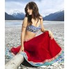 Bollywood Replica - Designer Red Net & Micro Velvet Lehenga 5058